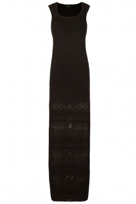 NIKKIE |  Embroidered maxi dress Jyll | black