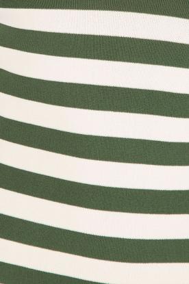NIKKIE | Top Jolie V-hals | wit/groen