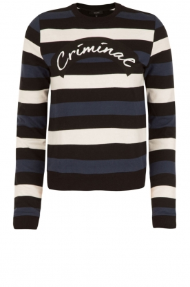 NIKKIE |  Striped sweater Criminal | blue/white/black