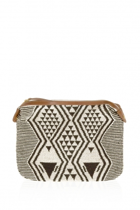 Star Mela | Clutch Esi Bead | zwart/wit