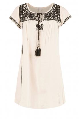 Star Mela   Geborduurde jurk Samta   naturel