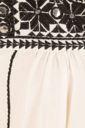 Star Mela | Geborduurde jurk Samta | naturel