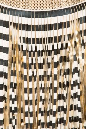 ELISABETTA FRANCHI | Rok met franjes Arabela | zwart/wit