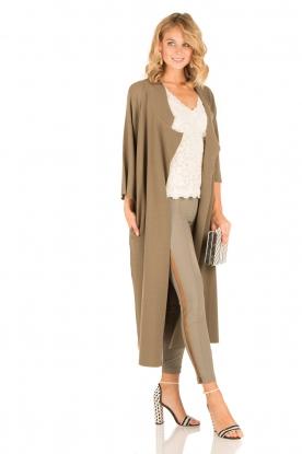 ELISABETTA FRANCHI | Skinny pantalon Milano | groen