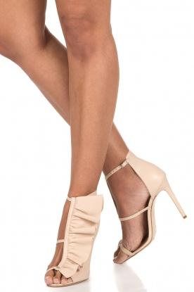 ELISABETTA FRANCHI |  Leather peep-toes Evi | nude