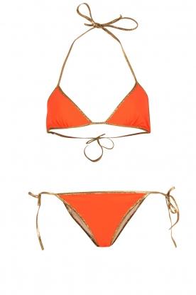 Tooshie | Reversible triangelbikini Hampton | beige/oranje
