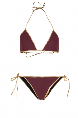 Tooshie |  Reversible triangle bikini Hampton | purple/blue