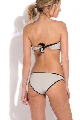 Tooshie | Reversible bandeau bikini Hampton | beige/ zwart