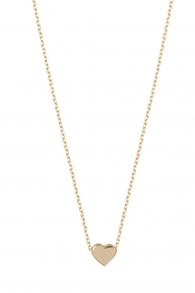Just Franky |  14k golden necklace Hart | gold