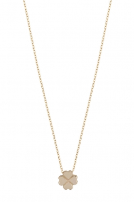 Just Franky |  14k gold necklace Clover | gold