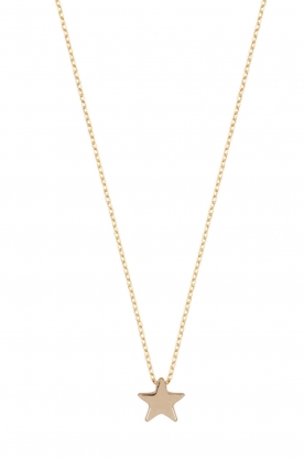 Just Franky |  14k gold necklace Star | gold