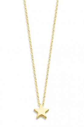 Just Franky |  14k gold necklace Star | yellow gold