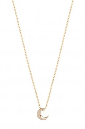 Just Franky |  14k gold necklace Moon | yellow gold