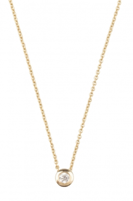 Just Franky |   14k gold necklace | yellow gold