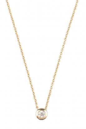 14k gouden ketting Diamond  goud