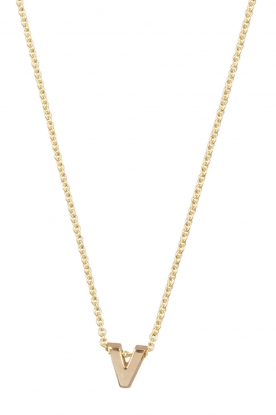Just Franky |  14k gold necklace length 40 cm | yellow gold