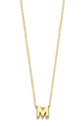 Just Franky |  14k gold necklace length 42 cm | yellow gold