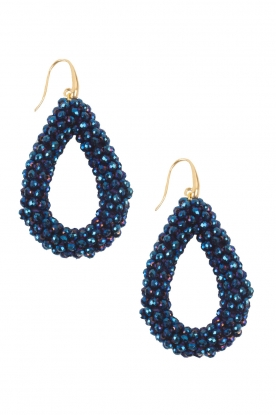Miccy's |  Earrings Open Crystals| blue