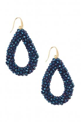 Miccy's | Oorbellen Open Crystals | blauw