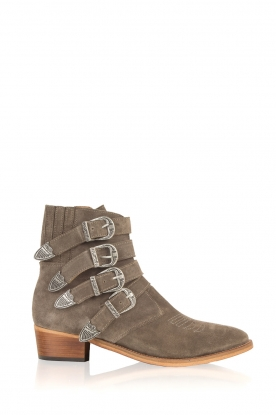 Catarina Martins |  Suede ankle boots Chase Buckels | grey