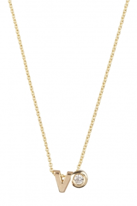 Just Franky |  14k golden necklace length 40 cm | gold