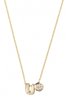 Just Franky | 14k gouden ketting lengte 42 cm | goud