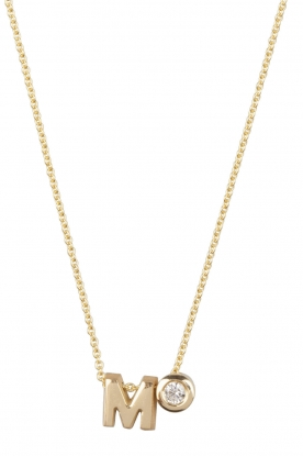 Just Franky |  14k golden necklace length 44 cm | yellow gold