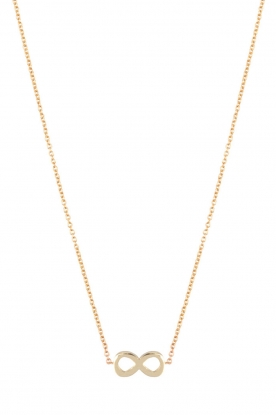 Just Franky | 14k gouden ketting Infinity | goud