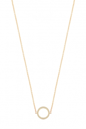 Just Franky |  14k golden necklace Open circle | gold