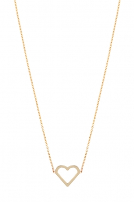 Just Franky |  14k golden necklace Open heart | gold