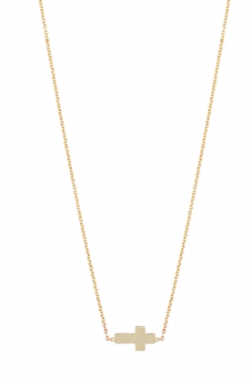 Just Franky |  14k golden necklace Cross | gold