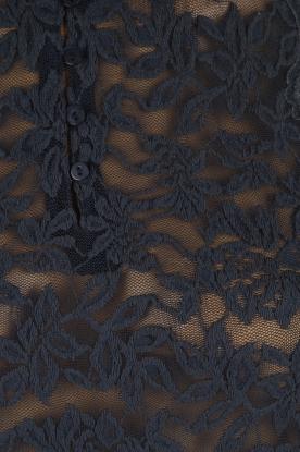 Rosemunde | Top Lace | indigoblauw