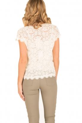 Rosemunde | T-shirt Lace | ivoor