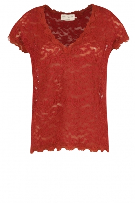 Rosemunde |  T-shirt Lace | red
