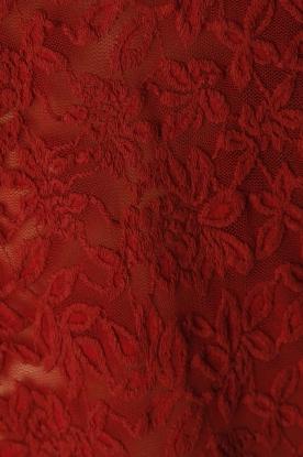 Rosemunde | T-shirt Lace | rood