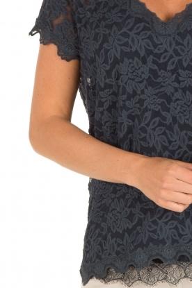Rosemunde | T-shirt Lace | blauw