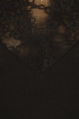 Rosemunde | Zijden top Bertine | zwart