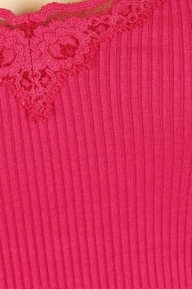 Rosemunde | Zijden V-hals top Babette | roze