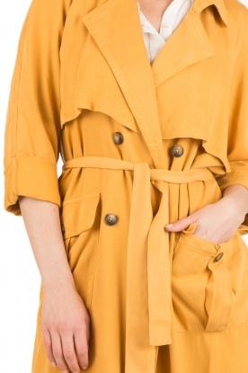 American Vintage | Trenchcoat Katetown | geel
