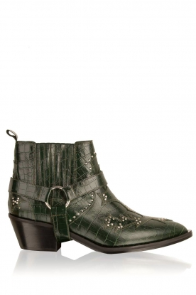 Morobé |  Ankle boots Fienne | Croco green