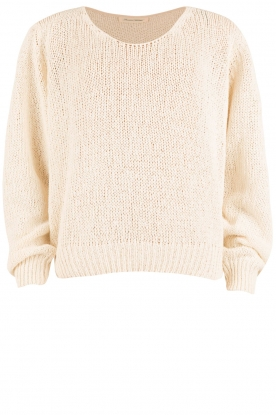 American Vintage |  Silk mix sweater Justinbeach | natural