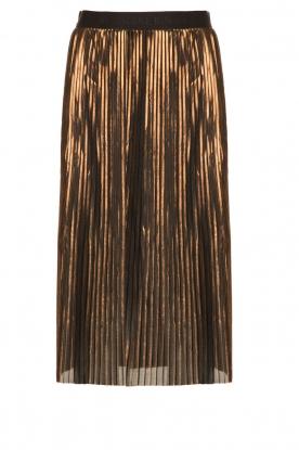 By Malene Birger | Metallic plissérok Iauno | bruin