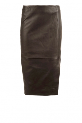 Dante 6 |  Leather skirt Giselle | black