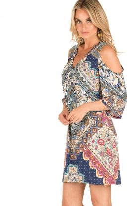 Hale Bob | Open shoulder jurk Laila | blauw