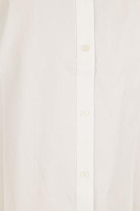 Hoss Intropia | Blouse met ruches kraag Camal | wit