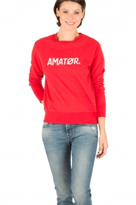 Amatør | Sweater Baby Logo | rood