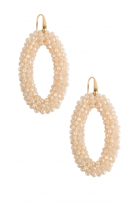 Miccy's | Oorbellen Ivory ovals | wit