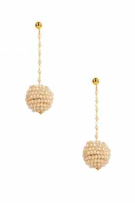 Miccy's |  Earrings Ivory balls  | white