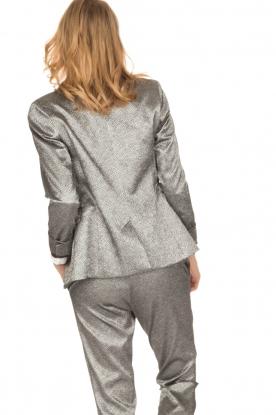 Amatør | Metallic blazer Metal Shine | zilver