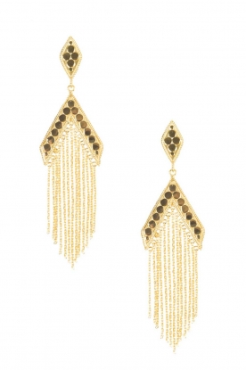 Close to Zen |  22ct gold plated earrings Blessed with Love | gold